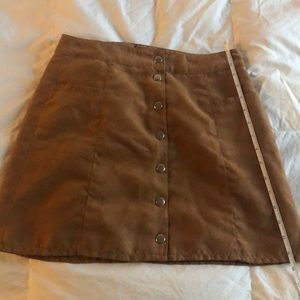H&M Skirts - H&M suede-like tan skirt